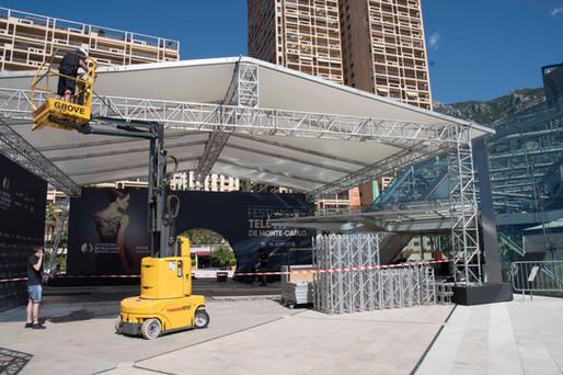 Reportage, mise en place du festival de télévision, Monaco