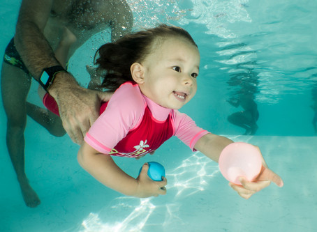 Séance photo bébé nageur