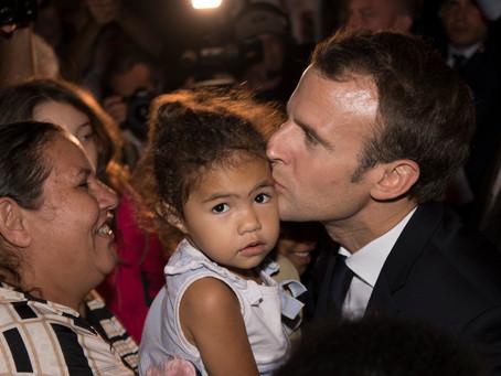 Le président de la République, Monsieur Emmanuel Macron à Nouméa.