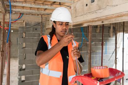 Suivi de chantier, construction, électricité, Noumea