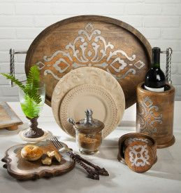 Wood and Metal Honey Jar