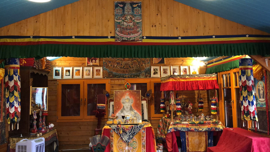 Inside Drolo Ling gompa