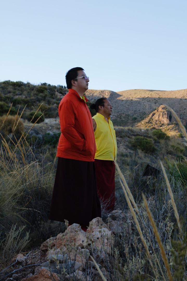H. H. Dudjom Rinpoche and Namkha Rinpoche in Namkha Dzong