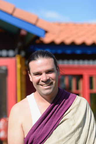 Rinchen Dorje, at home in Drolo Ling