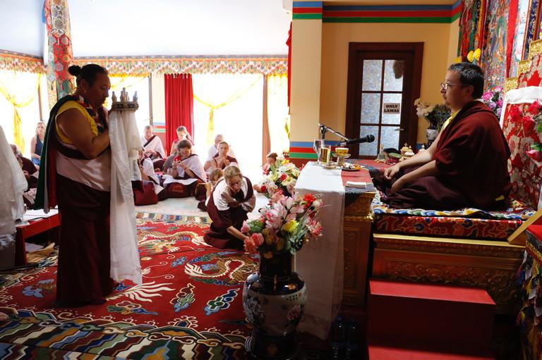Mandala offering in Namkha Dzong