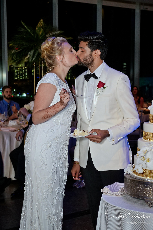cake-cutting-wedding-reception-indian-fusion-wedding-one-atlantic-events