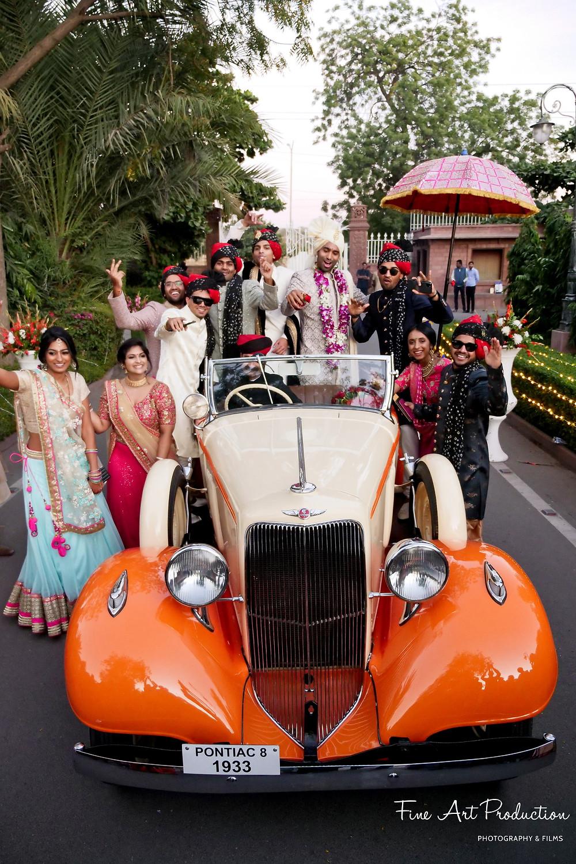 indian-wedding-baarat-antique-car-collection