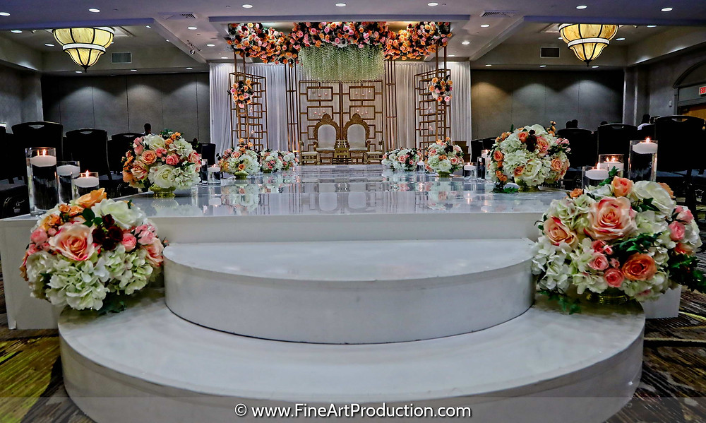 Indian Wedding Mandap Decoration Albany Marriott