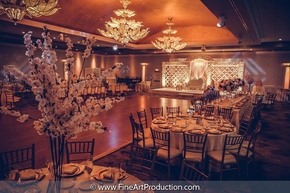 Luxury wedding Venue Reception Decoration Set up
