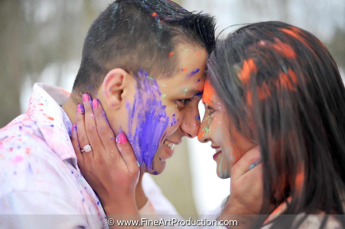 holi-colors-themed-engagement-photoshoot