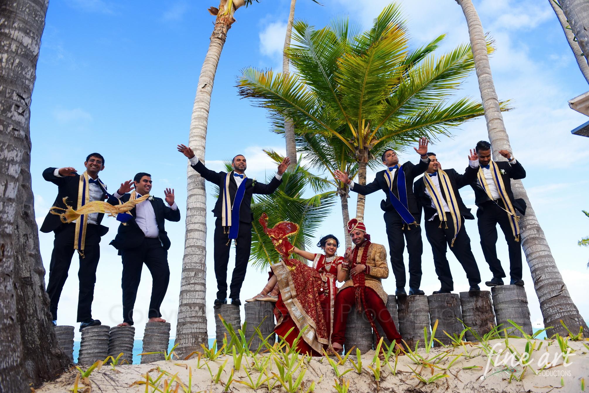 punta cana indian wedding bridal
