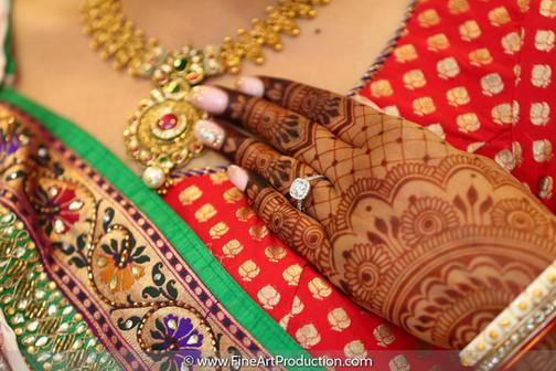 Indian Bridal Henna on her wedding day