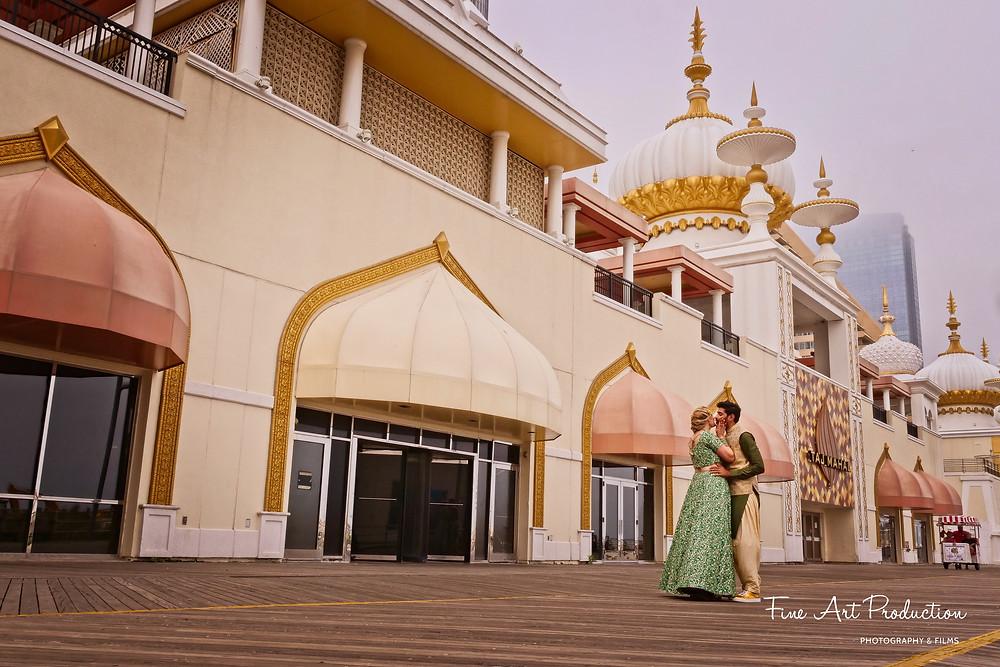 atlantic-city-board-walk-indian-wedding-bride