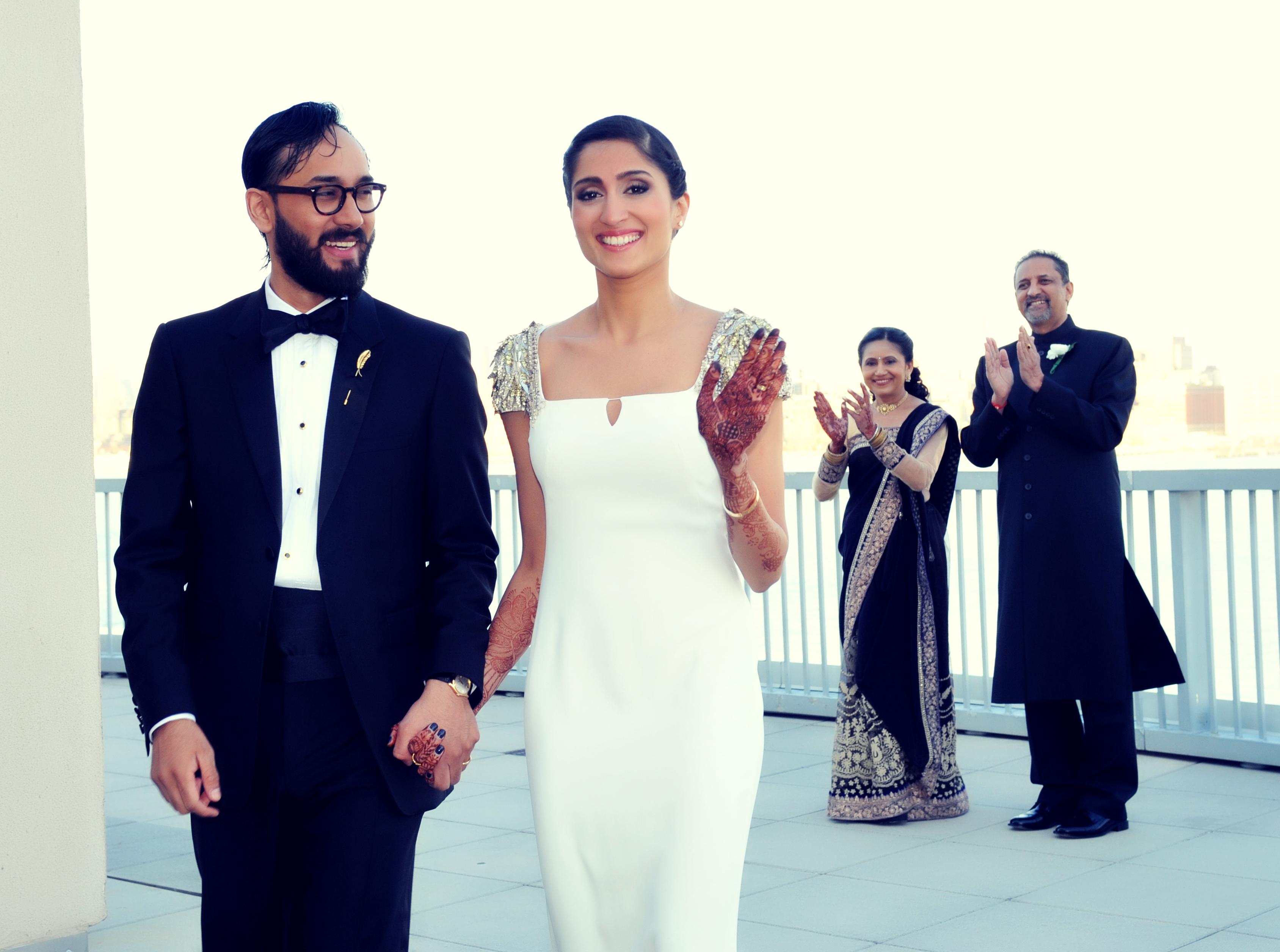 indian wedding reception at hyatt jersey city