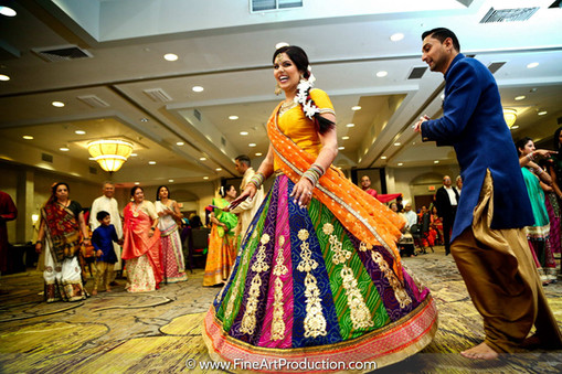 garba dandiya raas program during indian wedding