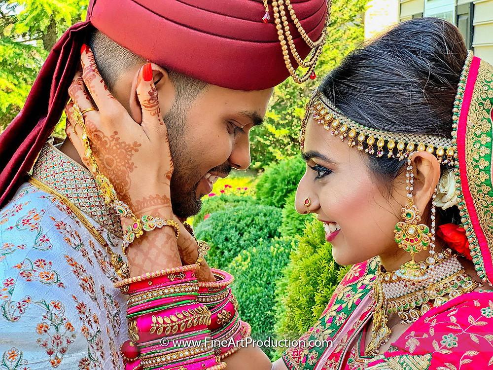 Indian Wedding couple - covid-19 wedding