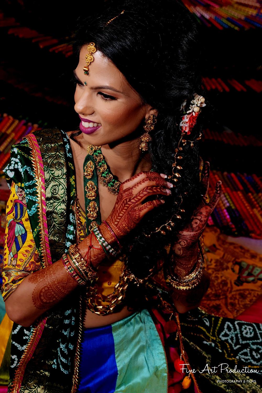 indian wedding garba hairstyle