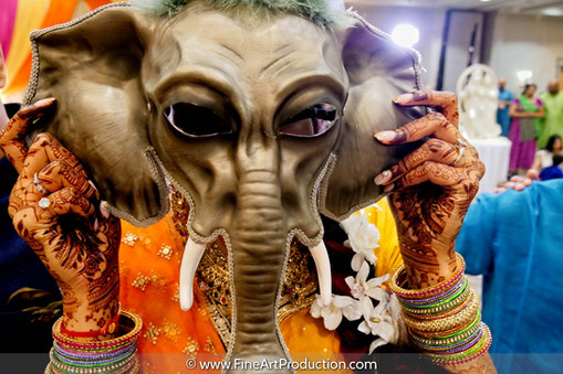 Fun Indian Bride Portrait