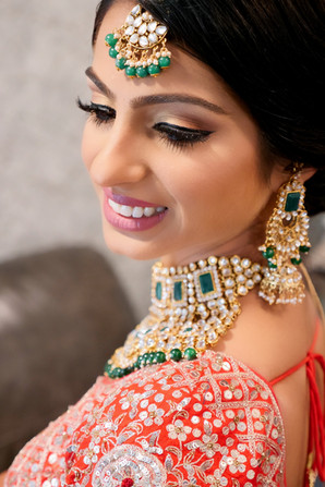 bride ready with complete jewelry