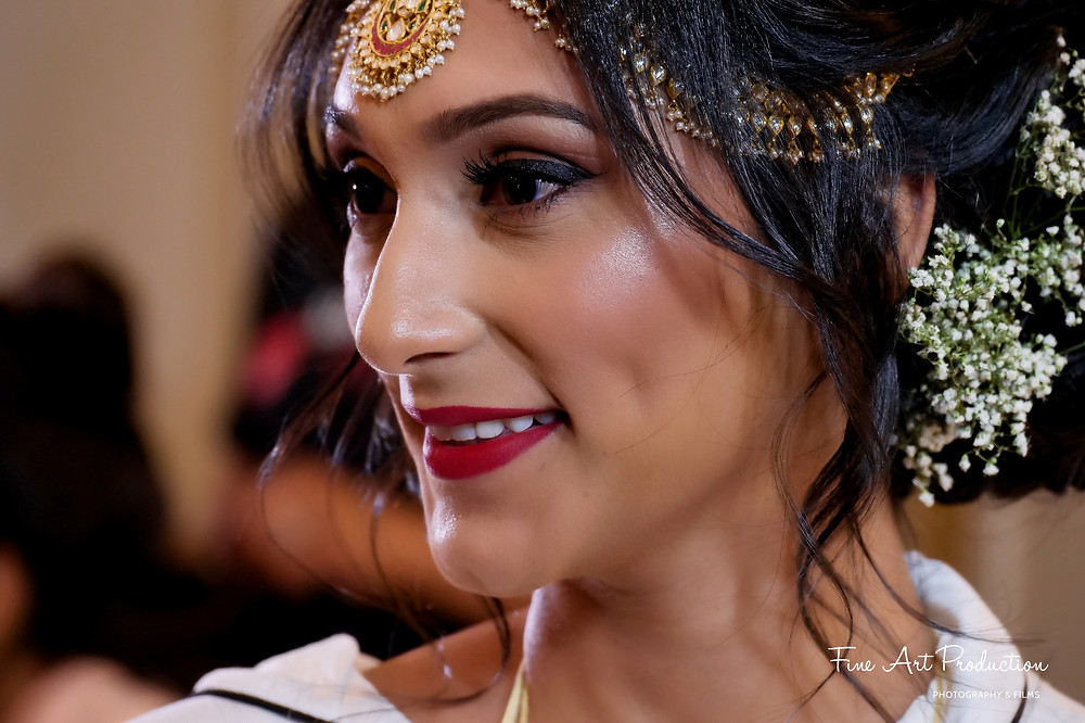 Indian Bride Getting Ready Portraits by Fine Art Production