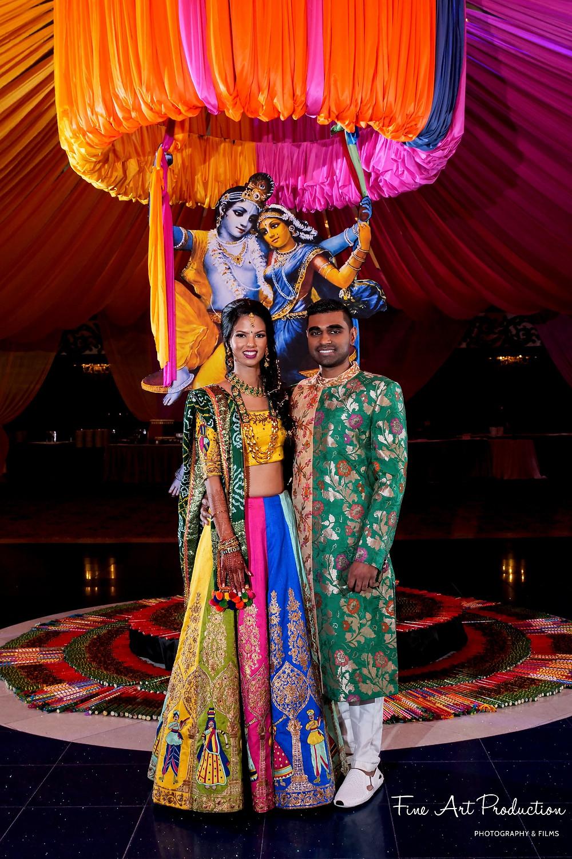 garba indian wedding portrait