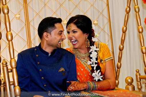 Candid Indian Couple Portrait at Indian Garba
