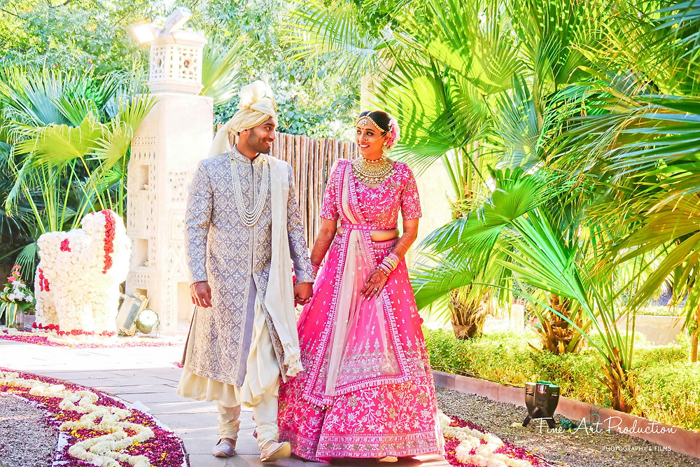 indian-bride-walking-together-with-groom