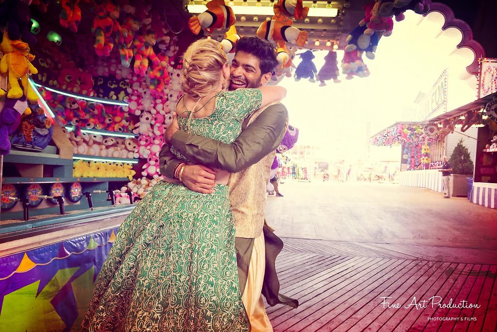 atlantic-city-board-walk-indian-wedding-bride-photography