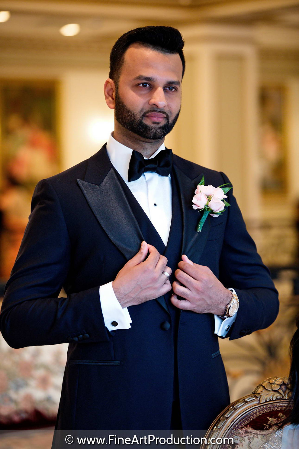 the-legacy-castle-indian-groom-reception-portrait
