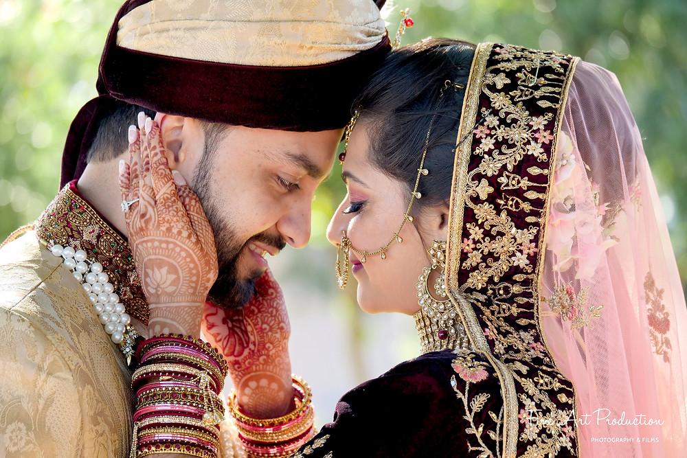 indian wedding couple portraits photography