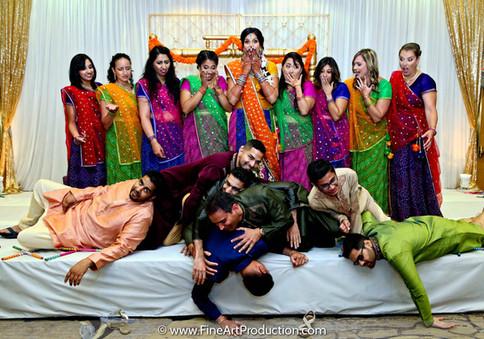 Wedding Bridal Party at Indian Wedding