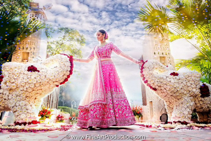 indian-bride-with-flower-elephant-decor