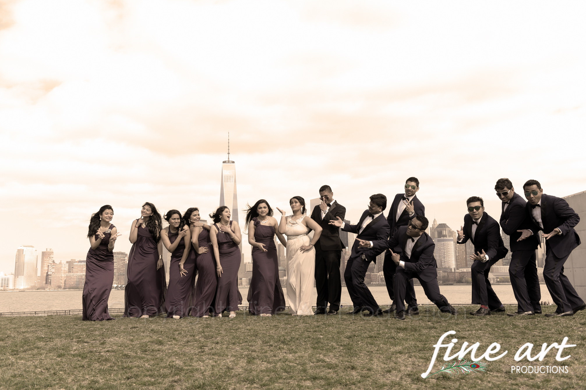 bridal party photo session