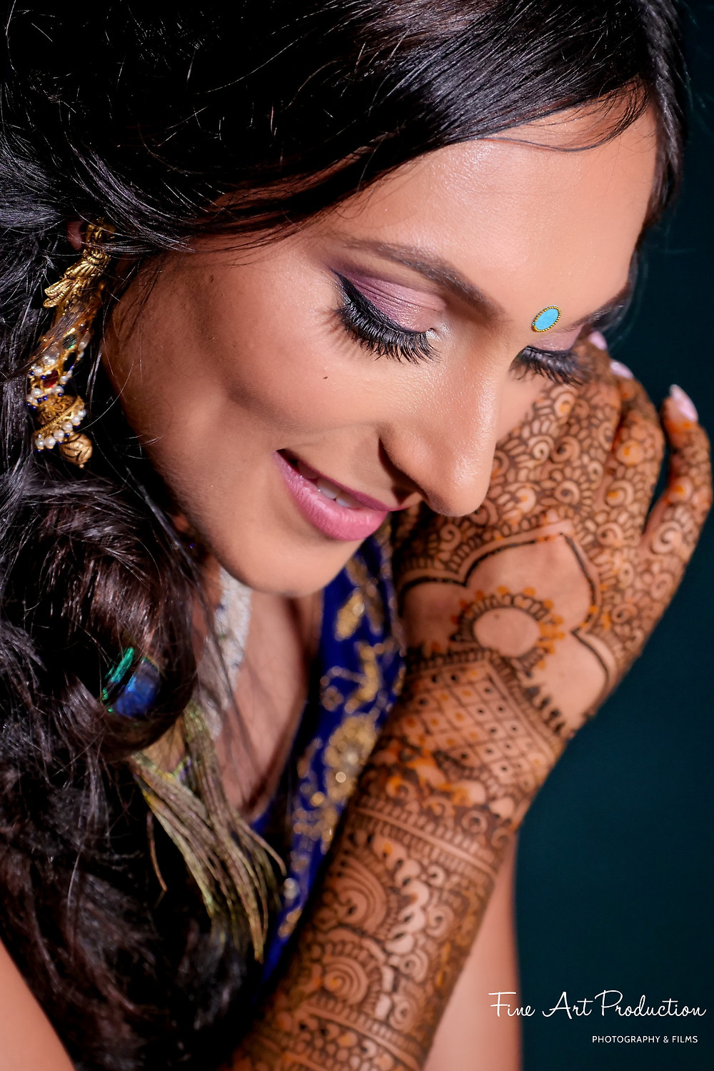 dulha dulhan closeup photo