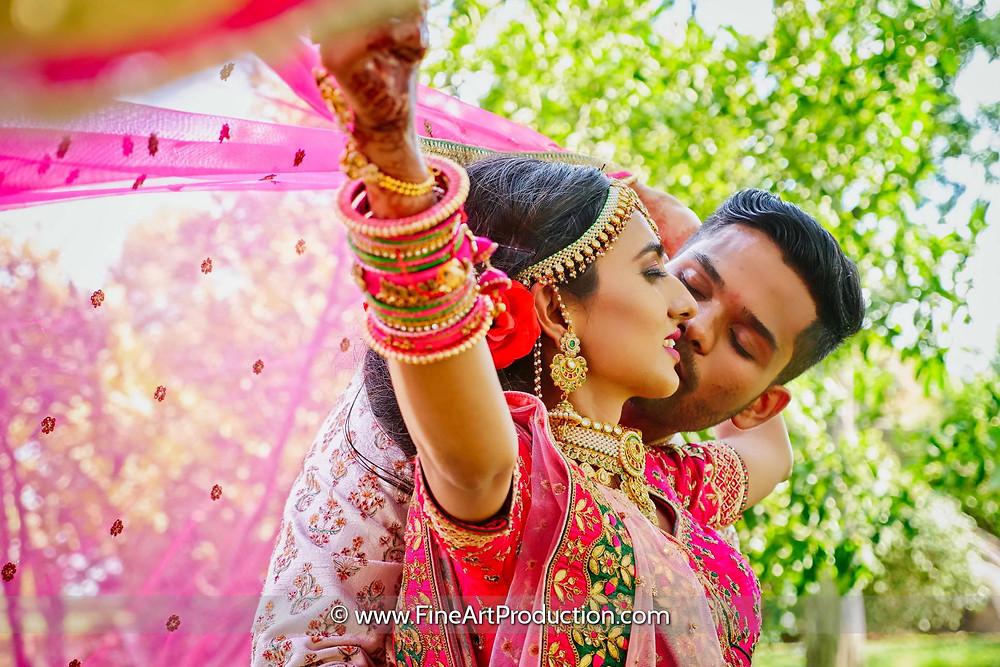 Indian Wedding Couple Portrait Ideas