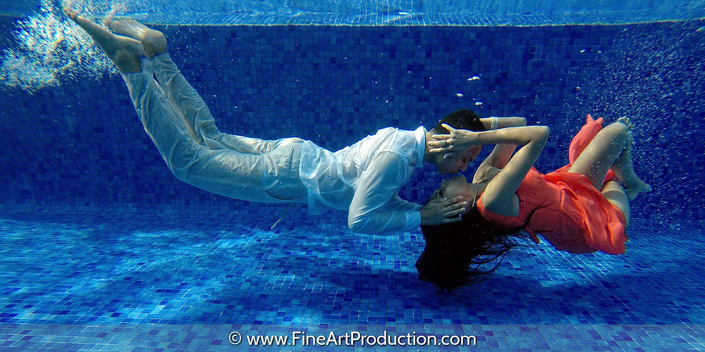 Underwater Bridal Photo Session by Fine Art Production