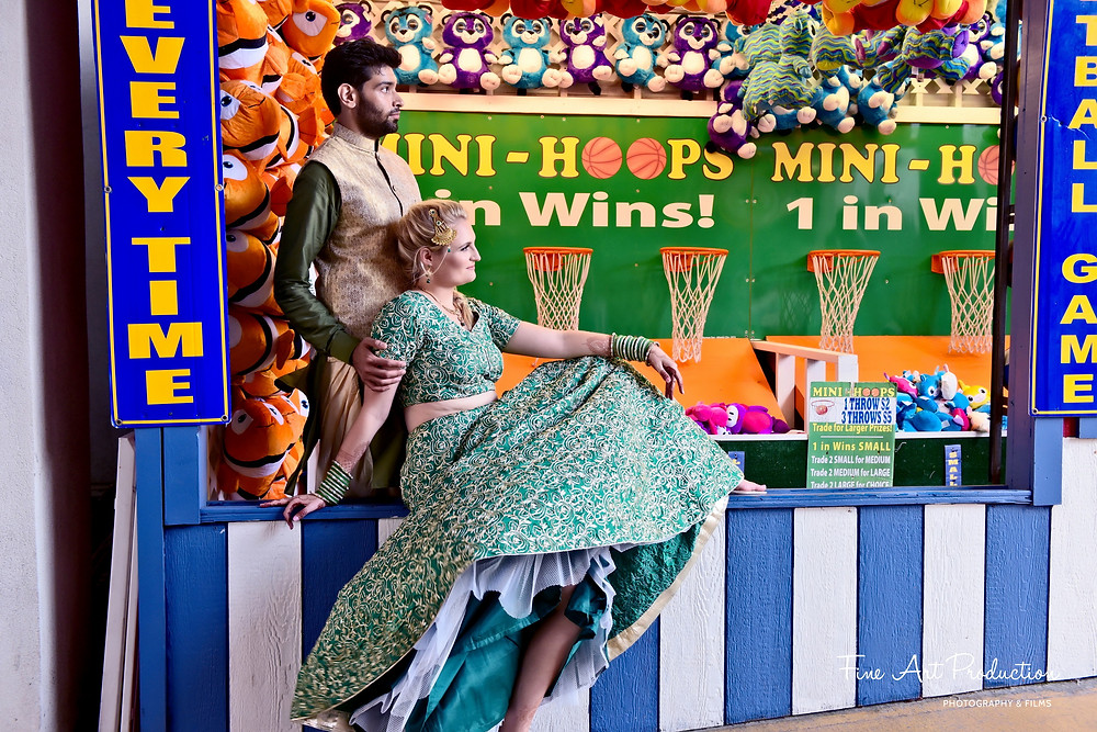 steel-pier-sangeet-event-beach-wedding- fine-art-production-usa-chirali-amish-thakkar-best-photographer-nj