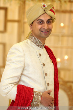 Indian groom Portraits at albany marriott indian wedding