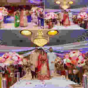 indian-wedding-bride-entrance-walking-the-isle-with-mama-gujarati-wedding-tradition