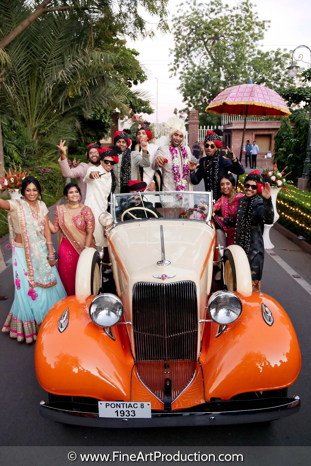 Exotic Car Baarat for your Destination Indian Wedding