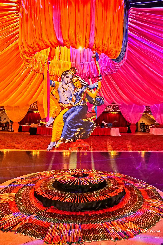 radha krishna theme garba decoration
