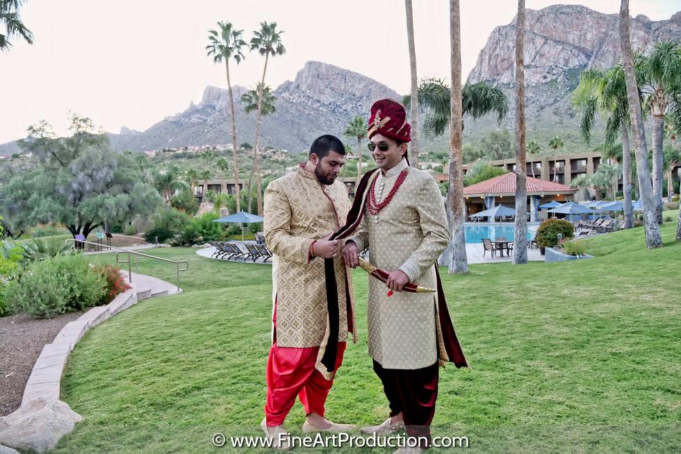 tuscon-az-indian-groom-getting-ready