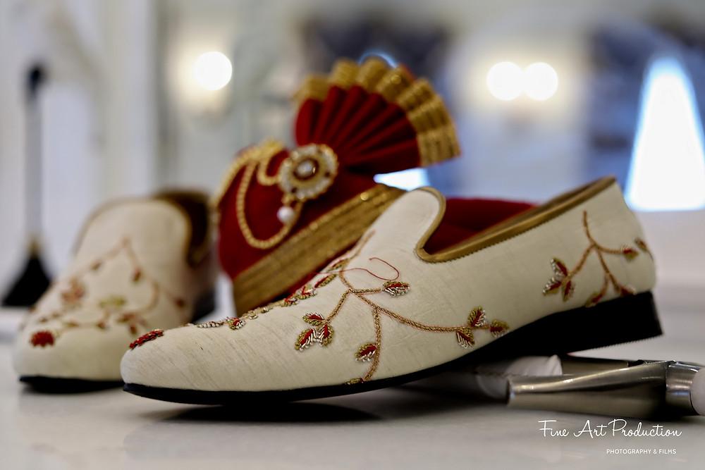 indian groom wedding shoes