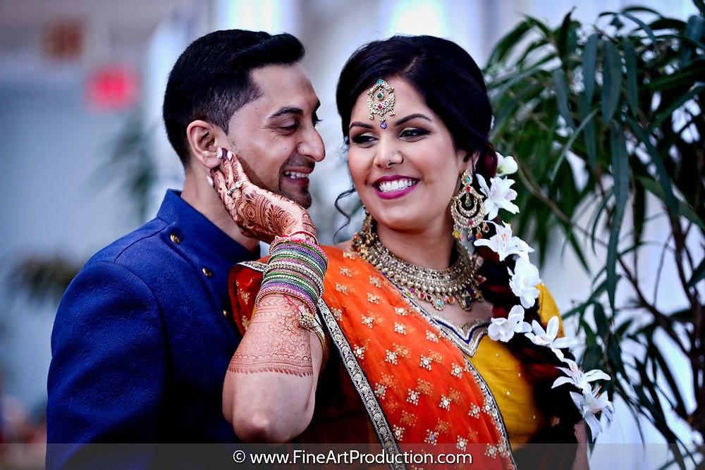 Indian Wedding Garba Celebration - Couple Portrait