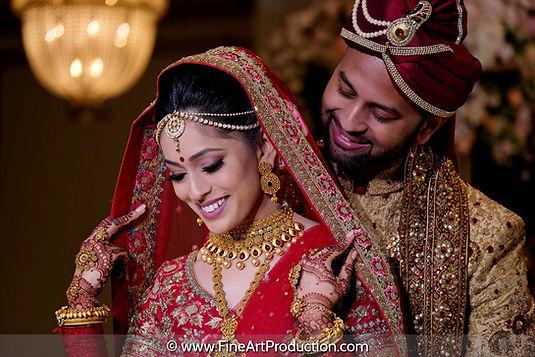 indian wedding couple portrait photograp