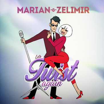 Let's Twist Again CD Cover by Marian Aas Hansen & ZELIMIR
