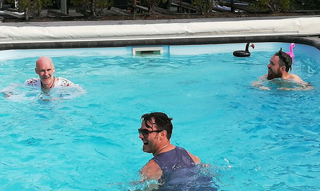 Marian Aas Hansen and Zelimir Villa Love Pool Party