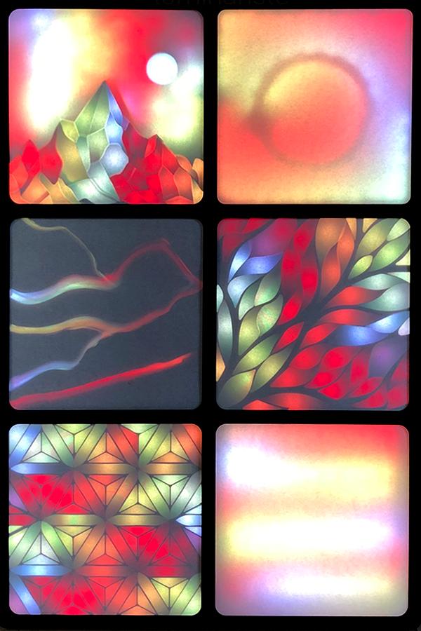 Vitrail 2.0 Luminaire, LED, art numérique