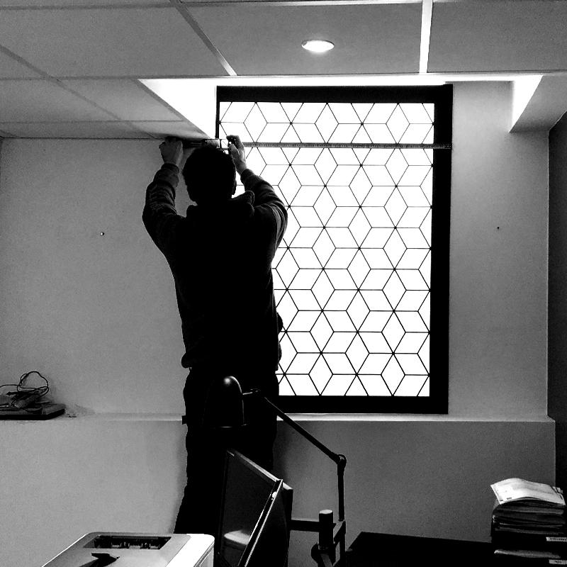 Fenêtre lumineuse d'intérieur -  Led