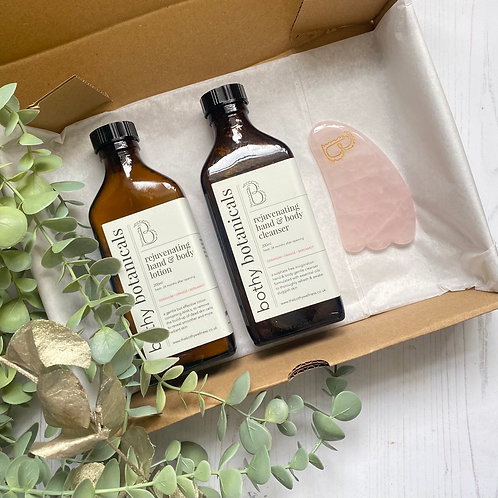 Rejuvenating Cleanser & Lotion and Gua Sha